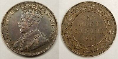 1918 Canada 1 Large Cent World Coin - Canada