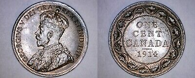 1914 Canada 1 Large Cent World Coin - Canada