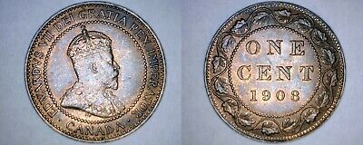 1908 Canada 1 Large Cent World Coin - Canada