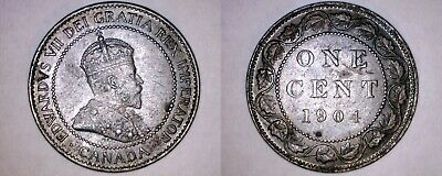 1904 Canada 1 Large Cent World Coin - Canada