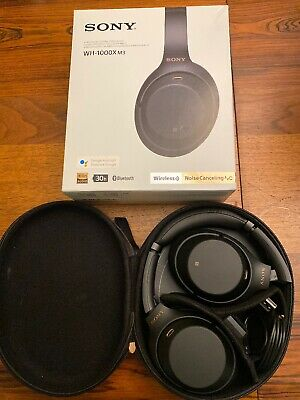 Sony WH-1000XM3 Wireless Noise Canceling Over Ear Headphones - Black 1000X M3