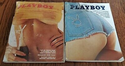 Lot of 2 issues Playboy Adult Vintage Magazine 1974 July September Centerfold