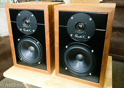 Cute Russell K Red 50 Loudspeakers in Superb Lustrous Oak