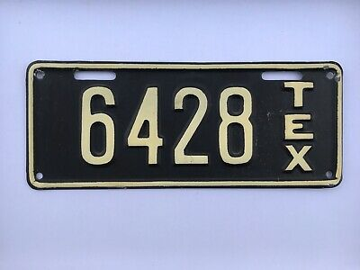 1917 Texas Motorcycle License Plate