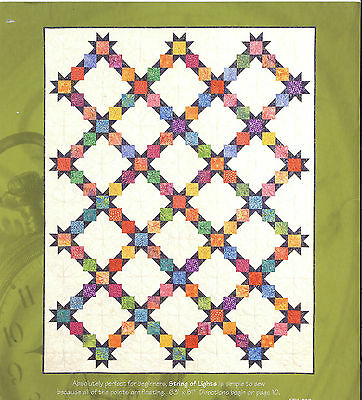 "String Of Lights Quilt Kit with Pattern 63""x 81"""