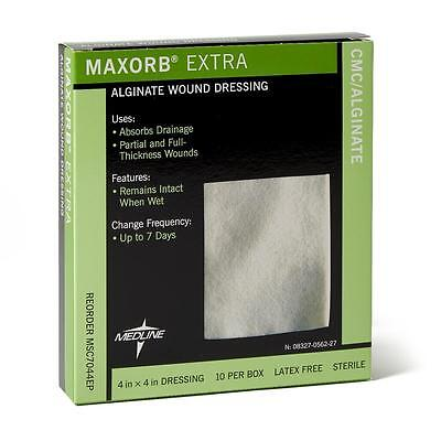 "Maxorb Extra CMC / Alginate Sterile Dressing - 4"" x 4"" - Box of 10 - MSC7044EP"