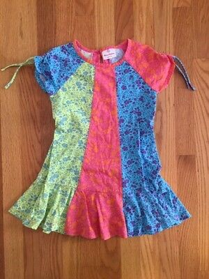 GUC Hanna Andersson Girls Multi Color Dress Floral Size 110 US 5