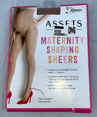 Assrts Shaping Maternity Sheers Sz. 4 Full Length Pantyhose. New In Package.