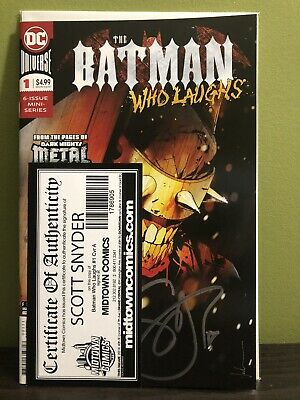 The Batman Who Laughs #1 Signed Snyder First Print Dc Comics (2018) Dark Nights