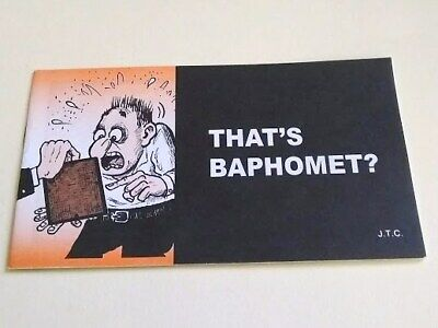 Jack Chick Tract That's Baphomet? 2011 Masonic Comic Christian Gospel Salvation