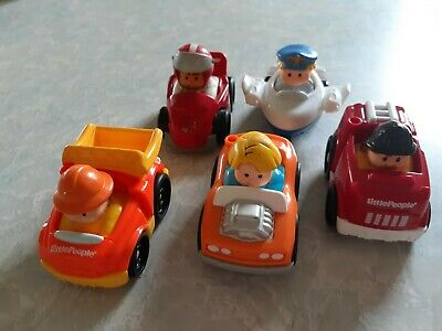 Fisher Price Little People Vehicles Lot Of 5 Good Used Condition