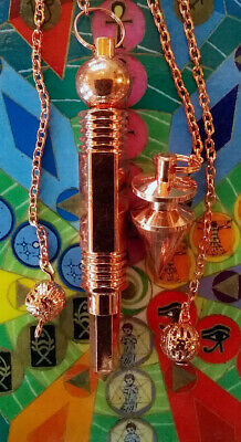 2 Solid Brass And Copper Dowsing Pendulums,  1 Large Witness Chamber, 1 Point