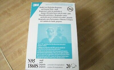 3M 1860S N95 Respirator Surgical Mask, Box of 20