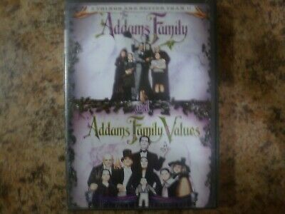 NEW The Addams Family 1991& Addams Family Values 1993 DVD 2 Disc Set Movie 1 & 2