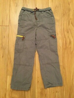 Mini Boden Boys Grey Lined Utility Pants. Size 8. VGUC