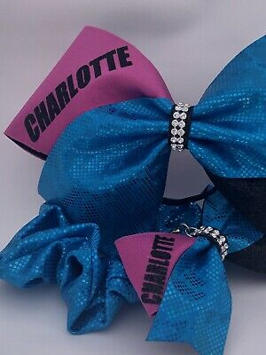 Cheerleading Bow Gift Set Keyring/Bagbling And Matching Scrunchie