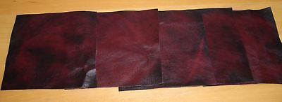 leathercraft antique oxblood red hide offcuts, larp,art crafts, real hide 5piece