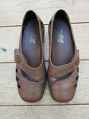 Ladies Dark Tan Bliss Hotter Comfort Concept Shoes Size 3