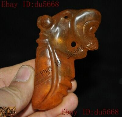 Old Chinese crystal carved Hongshan Culture sun god insect cicada statue Pendant