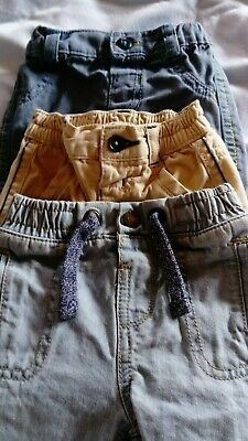 Baby Boys Trousers Jeans Chinos Bundle 0-3 Months - 3 pairs