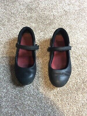 Clarks Black Leather Girls Mary Jane School Shoe Size 11.5 G Good Condition