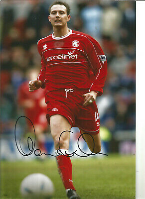 Football Autograph Noel Whelan Middlesbrough Signed 12x8 in Photograph JM63