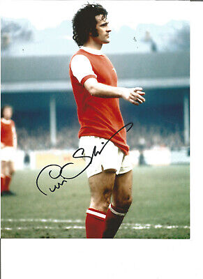 Football Autograph Peter Storey Arsenal FC Signed 10x8 inch Photograph JM97