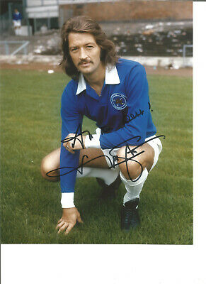 Football Autograph Frank Worthington Leicester City Signed 10x8 inch Photo JM70