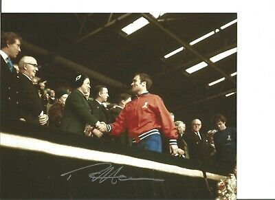 Ron Chopper Harris 10x8 Signed Colour Photo Pictured During Playing Days JM38