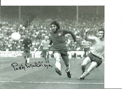 Paddy Mulligan 10x8 Signed Chelsea Football Action Photo JM151