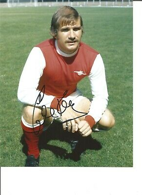 Football Autograph Eddie Kelly Arsenal FC Signed 10x8 Inch Photograph JM9
