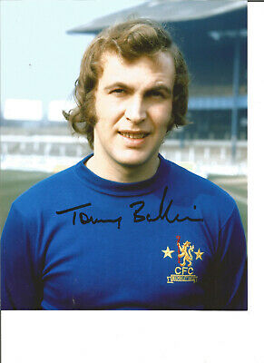 Football Autograph Tommy Baldwin Chelsea FC Signed 10x8 inch Photograph JM34