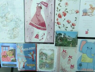 50 Greeting Cards Quality Occasions Birthdays Etc Joblot Wholesale