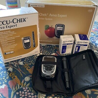 Accu-Chek Aviva Expert Blood Glucose Monitoring System & Test Strips Lancets