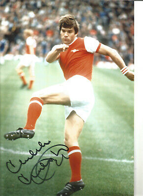 Malcolm Mcdonald Arsenal 10x8 inch hand signed authentic football photo S007