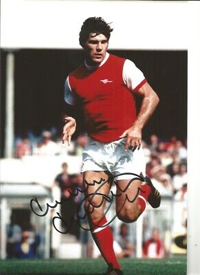 Malcolm Mcdonald Arsenal 10x8 inch hand signed authentic football photo S007A
