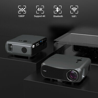 Smart Projector Support 4K Android BT 4.2 Meeting PPT Movie Airplay Apps HDMI UK