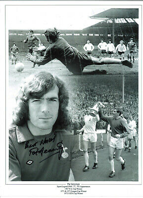 Pat Jennings Arsenal hand signed authentic 16x12 in football Collage Photo S012