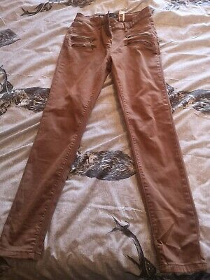 Boys NEXT Beige/Brown skinny Trousers - Age 12 years