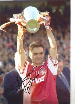Marc Overmars Arsenal 12 x 8 inch hand signed authentic football photo S017A