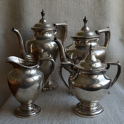 Wallace 365 Sterling 925 Silver Tea Coffee Set 4pc