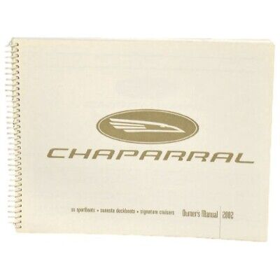 Chaparral Boat Owners Manual | 2002 SS Sportboats Sunesta Signature