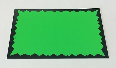 """100 Pack - 5.5"""" x 3.5"""" Fluorescent Neon Starburst blank NO TEXT Retail Sign tag"""
