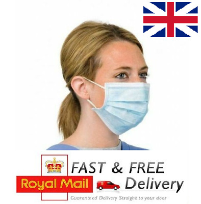 Disposable Surgical Face Mask Flu Nails Dental Flu Virus Mouth 3 Ply Ear Loops