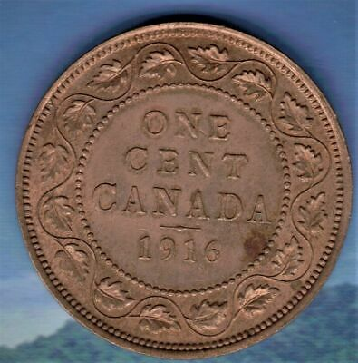 1916 Canada  Large Cent MS-62/3 Red