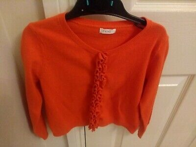 Girls orange Next Cardigan Cardi age 5 years