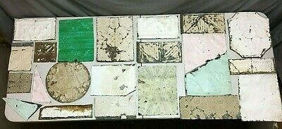 15' Sq.ft.Antique TIN metal CEILING RePurpose Crafts Art Projects Vtg 173-20B