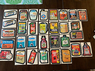 1975 Original Wacky Packages 15th Series, Near Set 29/30, 31 Total Sticker Cards