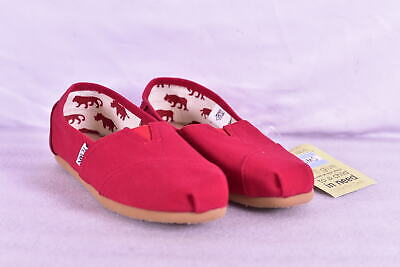 Women's Toms Classic Canvas Slip on Shoes, Red, 5.5 (EU 36)
