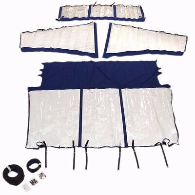 Robalo Boat Curtain Kit 118442522 | 247 Blue / Clear